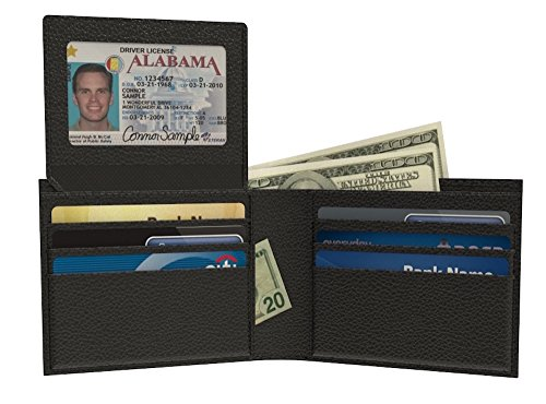 Wallet Men Blocking Leather Bifold