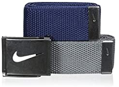 Nike Men's 2-In-1 Web Tin Solid, Navy/Gr...