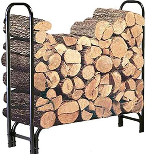 Amazon Com Doeworks 4 Feet Heavy Duty Indoor Outdoor Firewood Racks Steel Wood Storage Log Rack Holder Garden Outdoor