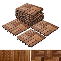 Acacia Wood Deck Tiles | Composite Decki...