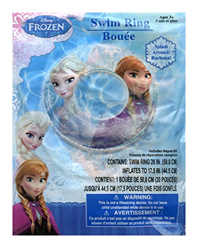 Disney Frozen Elsa and Anna Inflatable Swim Ring - 20 inch (Frozen Dive)