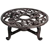 ''ABC Products'' - (NEW LOWER PRICE) - Heavy Cast Iron - Round Teapot Warmer - With Elegant Scroll Work - With That Old Country Look (Bronze Rustic Color Finish - Uses 1 Tea Candle - Not included)ci