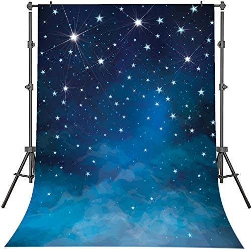 Starry Night Scene - Mehofoto Starry Night Backdrops Blue Night
