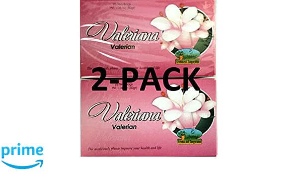Amazon.com : Valeriana Té. 25 Tea Bags. Valerian Tea. 2-PACK (50 Tea bags Total) : Grocery & Gourmet Food