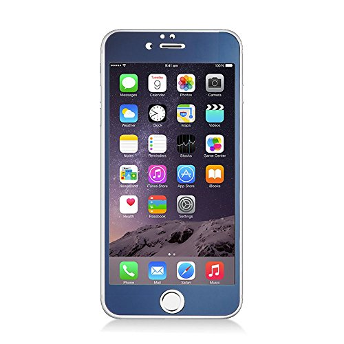 iPhone 6 Plus/6s Plus Screen Protector, Insten Clear Tempered Glass LCD Screen Protector Shield Guard Film for Apple iPhone 6 Plus/6s Plus, Blue