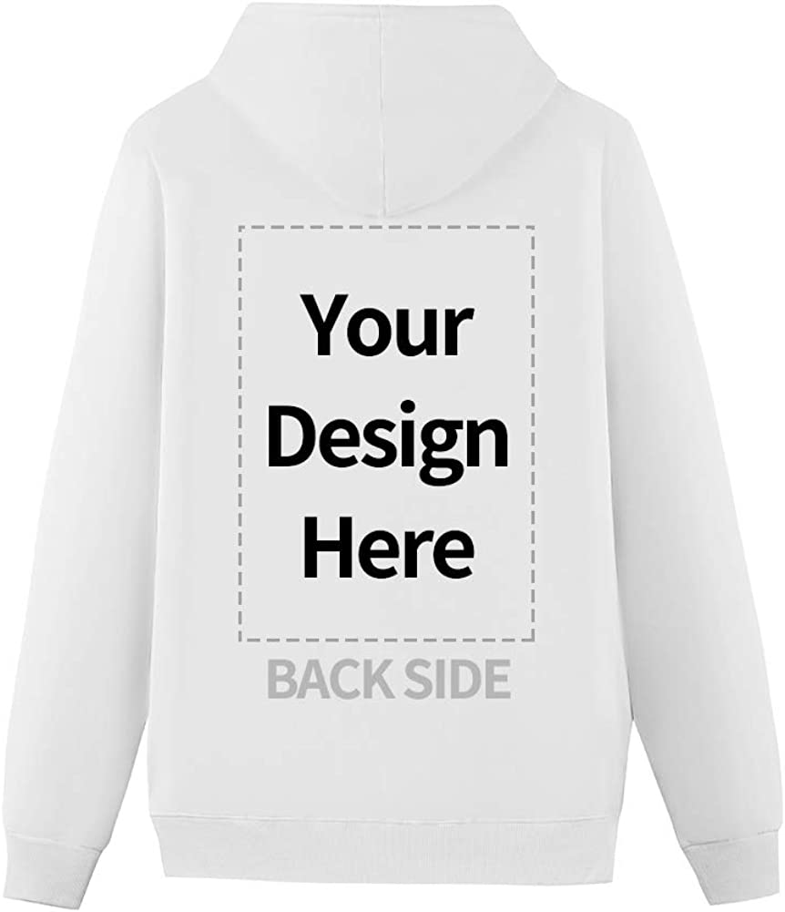 Custom Hoodie for Men and Women Design Your Own Pullover Hoodie with Fleece Personalized Photo or Text Sweatshirt for Couples