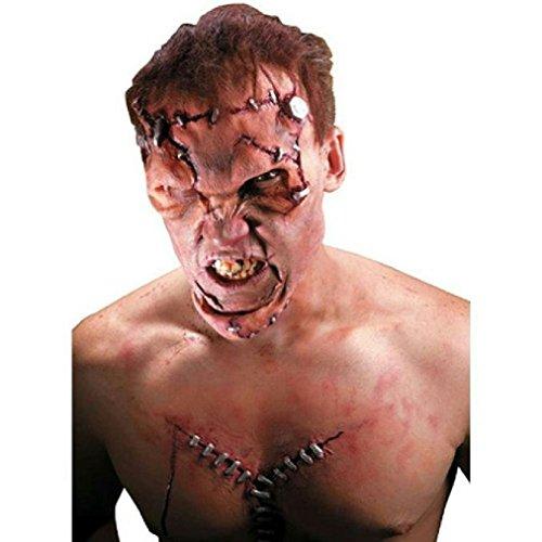[8eighteen Reel FX: Man Made Monster Frankenstein Face Latex Appliance Kit] (Prosthetic Fx Makeup Halloween Masks)