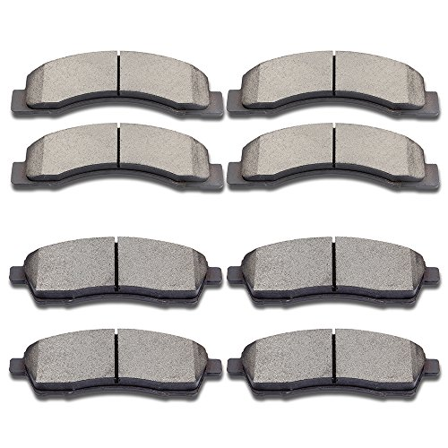 Rotor Super F250 Duty Pickup (SCITOO Ceramic Disc Brake Pads Set fit Ford Excursion F-250 Super Duty F-350 Super Duty)