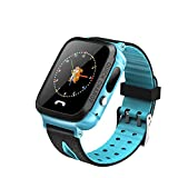 Kid Smart Watch GPS Tracker IP67 Waterproof Fitness Watch SOS with Camera, All-Day Heart Rate and Activity Tracking, Sleep Monitoring, GPS, Ultra-Long Battery Life (Blue, Free)