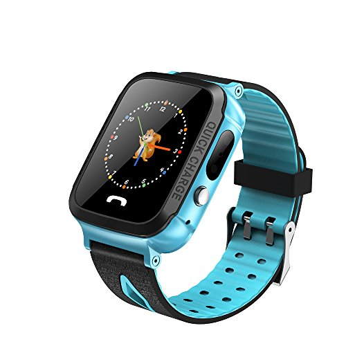 Price comparison product image Buybuybuy Kid Smart Watch Phone GPS Tracker,  Y34 Fitness Tracker with SIM SOS Camera Anti-lost Game Pedometer Digital Wrist Outdoor Prime Deals Gift Sport Bracelet for iOS / Android (Blue)