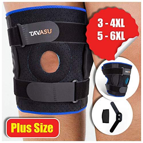 TAVASU Knee Brace for Plus Size, Hinged Stabilizer for ACL, Meniscus Tear, Arthritis Adjustable – 6XL