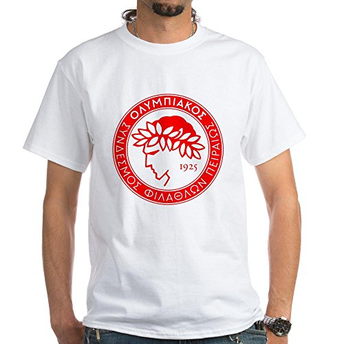 fan products of CafePress Olympiacos T-Shirt - 100% Cotton T-Shirt, White