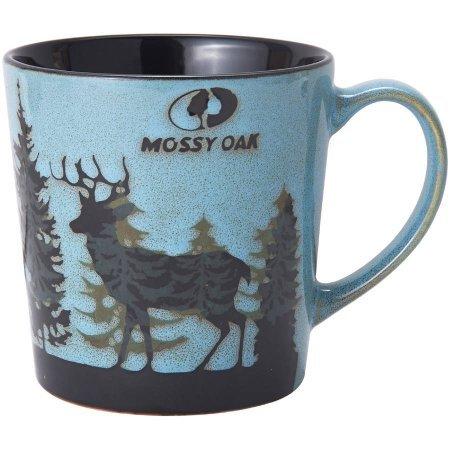 Mossy Oak Reactive Deer 16 oz Coffee Mug (Blue)