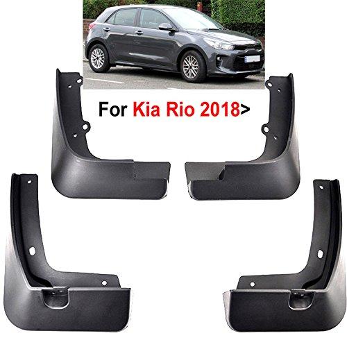 - XUKEY Auto Molded Splash Guards for Kia Rio 2017 2018 YB Hatchback Mud Flaps - Front & Rear 4 Pieces Set