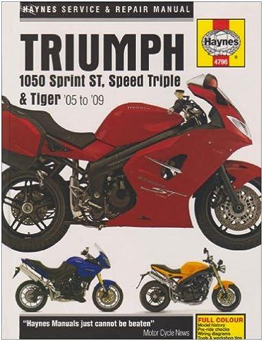 triumph 1050 service and repair manual 2004 to 2009 haynes service rh amazon com owner's manual triumph tiger 1050 Tiger 1200
