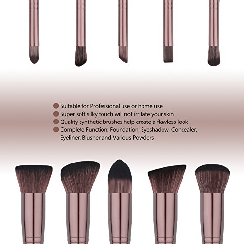afda6dfbb84b Qivange Makeup Brush Set, Synthetic Soft Kabuki Flat Top - Import It All