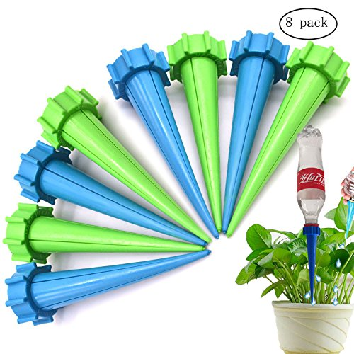 Medium Cone Top Hanging (Vision decorate Automatic Watering Spikes Devices System Indoor Outdoor Plant Watering Drip Irrigation System Holiday Vacation Garden (8))