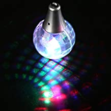 Fun Central T039, 2 Pieces LED Flashing Multi-Color Disco Prism Ball Pendant Necklace, LED Necklace, Light up Necklace, Glow in the Dark Necklace for Rave and Disco Party