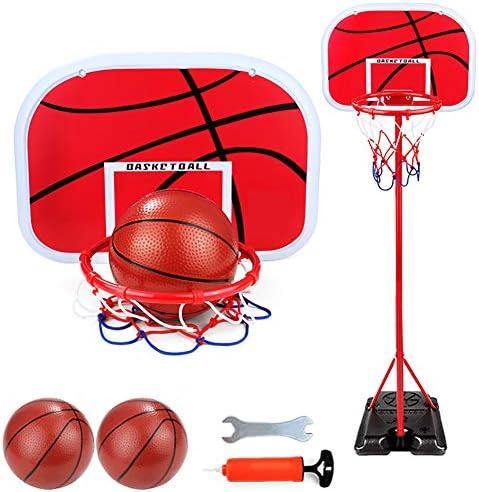 新しい2020バスケットボールフープとスタンド、2.4Mポータブルバスケットボールフープセット、130〜240cmの高さ調節可能な子供用バスケットボールスタンドスポーツ、屋内および屋外での使用に最適