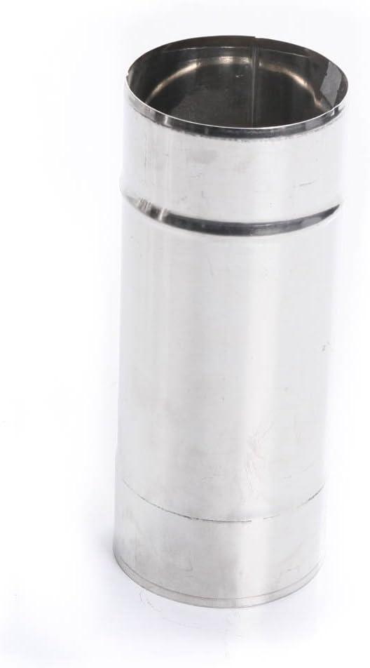 /Ø 130mm, L/änge: 1000mm rg-vertrieb Edelstahl Kaminrohr Ofenrohr Rohr Heizung Rauchrohr Schornstein Abgasrohr Sanierung 250mm 330mm 500mm 1000mm Wandst/ärke 0,6mm 80mm-200mm w/ählbar