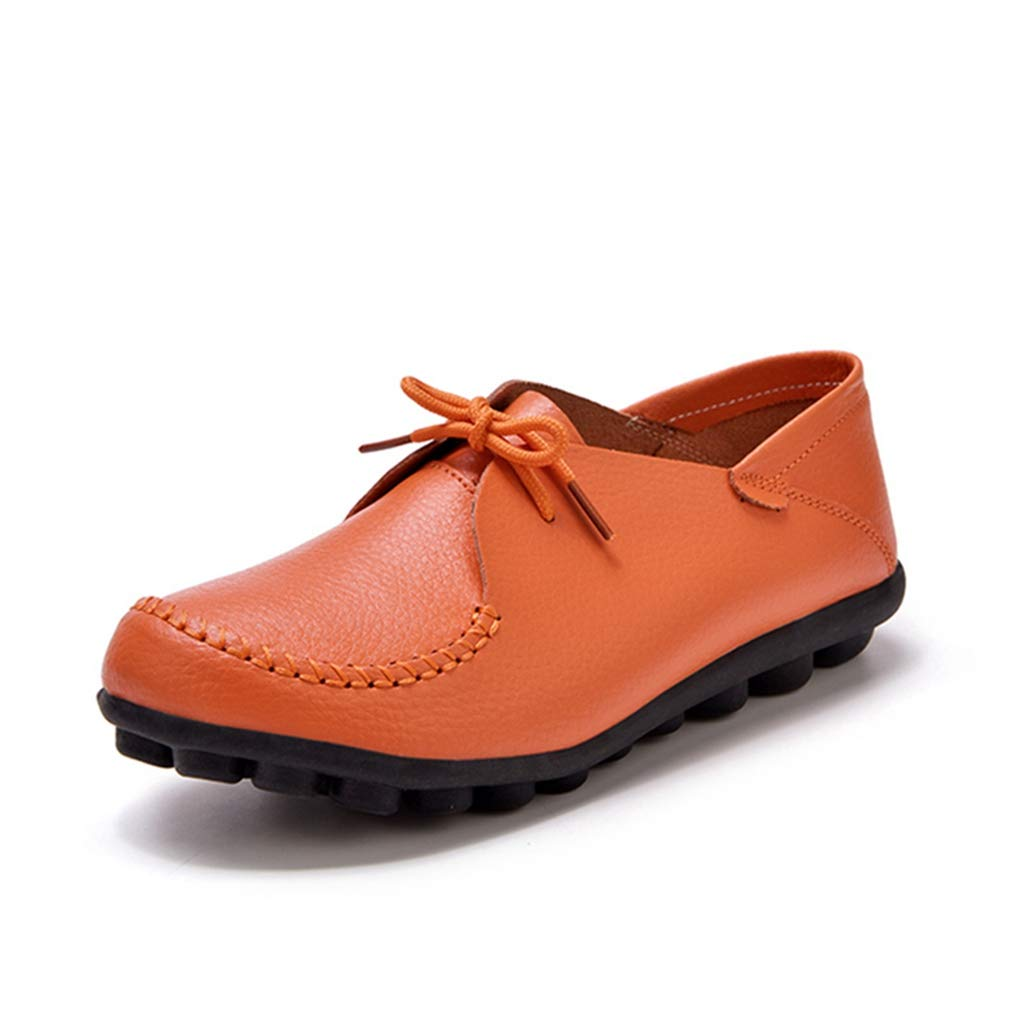 1582a6a6a1cdc August Jim Women Loafers Shoes,Lace up Female Casual Leather Flats ...