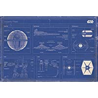 PopArtUK Maxi poster cinematografico con piani della flotta imperiale di Guerre stellari, 91,5 x 61cm