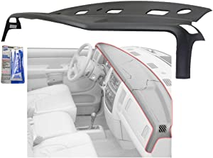 Dash Cover compatible with Dodge Full Size P/U 02-05 Satin Black 1 Piece