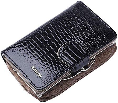 2018 New Fashion Womens Leather Handbag Zipper Bag Card Bag Tote Lady Purse Wallet Female Designer Brand Wallet for Women Xennos Wallets Color: Black