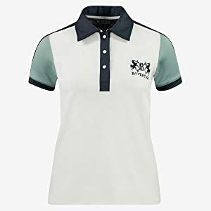B Vertigo Cassandra Quick Dry Comfort Women's Polo Sun Shirt with Back Mesh