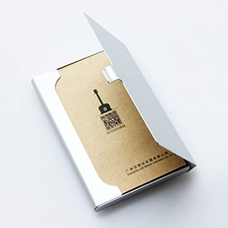 Tarjeteros Cajas para tarjetas de visita Portatarjetas de metal ...