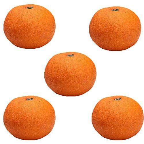 5pcs Orange Plastic Artificial Fruit Plastic Food Fake Fruit Home Decoration EXCITES CO. LTD AEQW-WER-AW144344