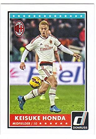 Amazon com: 2015 Panini Donruss Soccer #11 Keisuke Honda AC Milan