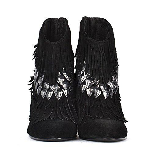 Ash Footwear Black Swan Botines de Ante Negro Mujer Negro