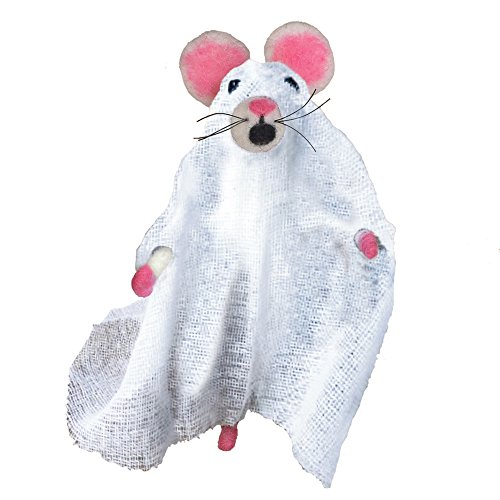 Felt Hanging Ghost Mouse Ornament | Halloween Costume Plush