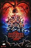 #10: Millie Bobby Brown Eleven Signed 11x17 Stranger Things Season 2 Poster JSA