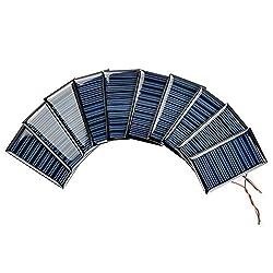 AOSHIKE 10Pcs 5V 30mA Micro Solar Panels for Solar Power Mini Solar Cells DIY Electric Toy Materials photovoltaic Cells 53x30MM(5V 30mA 53x30MM)