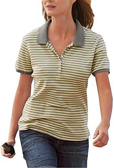 Camiseta polo Mujer de Eddie Bauer - amarillo, XS: Amazon.es: Ropa ...