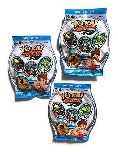 Yo-Kai Season 1 Medals - Three Blind Bags - 9 Random Medals