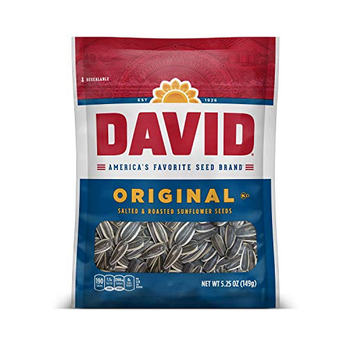 🥇 DAVID SEEDS Roasted and Salted Original Sunflower Seeds