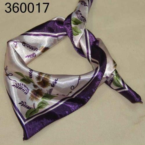 Price comparison product image TryMarket(TM) New Vintage Elegant Business Silk Satin Feel Ladies Small Square Head/Neck 17