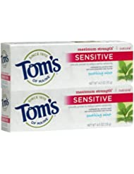 Tom's of Maine Sensitive Maximum Strength Anticavity Toothpaste, Soothing Mint - 4 oz - 2 pk