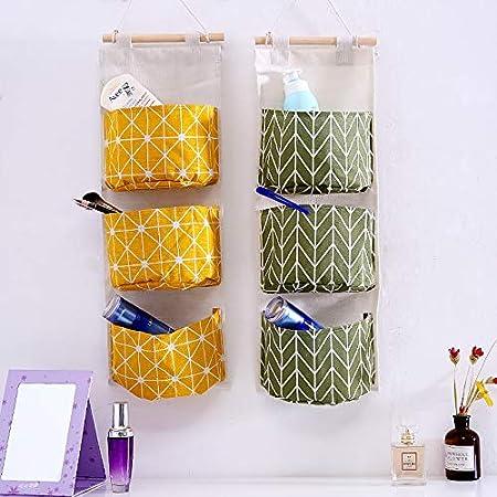 Luyao 1 st/ück Wand Aufbewahrungstasche Baumwolle Und Leinen Buch Kleinigkeiten Aufbewahrungstasche Kosmetische Aufbewahrungstasche Haushaltswaren Aufbewahrungstasche