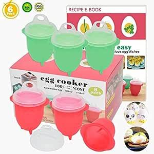 Hervidores para huevos , macetero de silicona de Cocinero de huevo ...