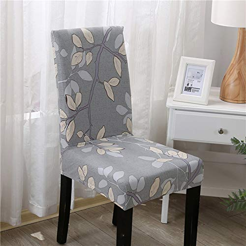 T-CYYT 2 Pieces Anti-fouling Household Chair Cover Hotel Chair Package Chair Cover Siamese Stretch Office Computer, Milan Spring Chair Cover