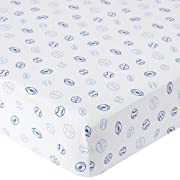 Babies R Us Knit Crib Sheet - Blue Sports