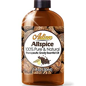 Artizen Allspice Essential Oil (100% PURE & NATURAL – UNDILUTED) Therapeutic Grade – Huge 1 Fl. Oz Bottle – Perfect for Aromatherapy, Relaxation, Skin Therapy & More!