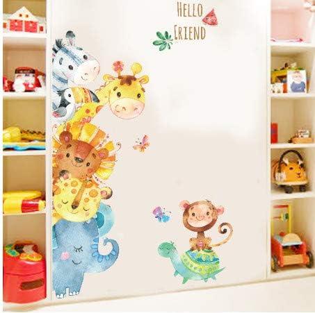 Letti Per Bambini Divertenti.Axhzl Animali Divertenti Amici Adesivi Murali Per Feste Per