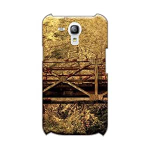 RobAmarook Samsung Galaxy S3 Mini Shockproof Cell-phone Hard Cover Custom High-definition Old Bridge In The Forest Pattern [YcB3996LEtd]