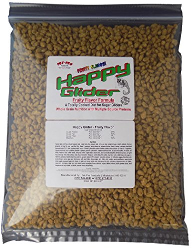 Happy Glider Fruity Flavor Sugar Glider Food 1.5 lb (Nutrition Sugar Glider)