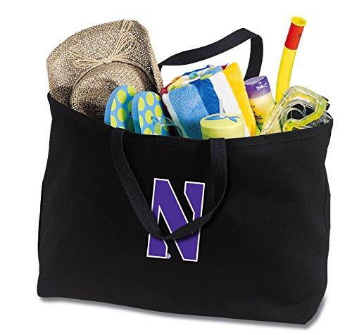 Broad Bay JUMBO Northwestern Wildcats Tote Bag or Large Canvas Northwestern University Shopping Bag by Broad Bay
